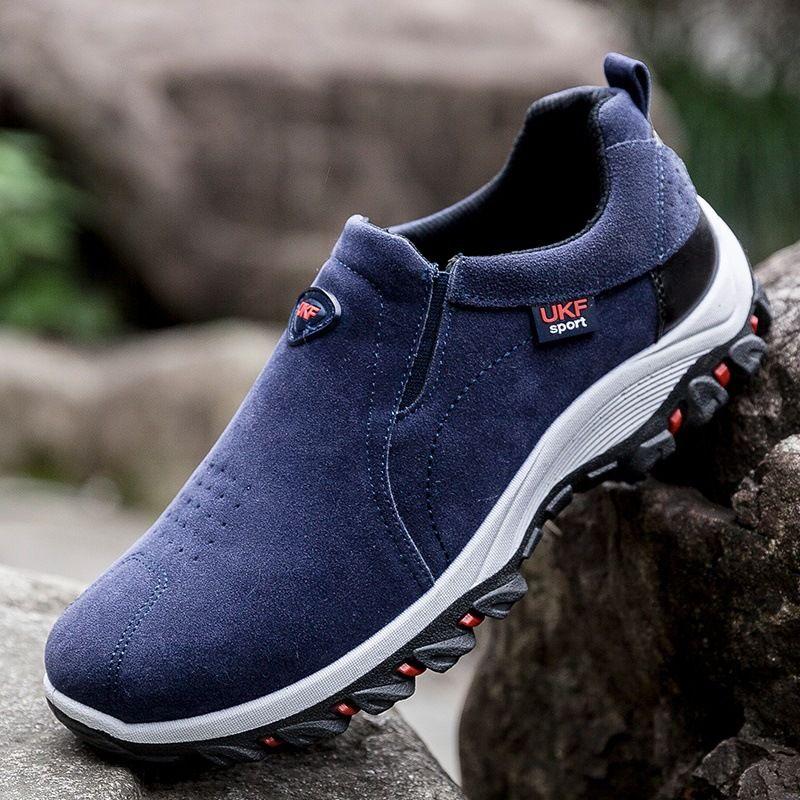 ربيع 2019 رجل جديد الأحذية الشباب المضادة الأحذية البريطانية القطيفة تسلق الجبال في الهواء الطلق الاحذية الرجالية