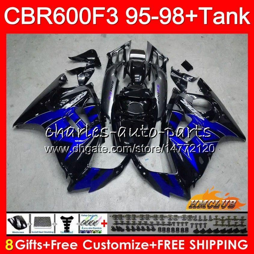 Lichaam + tank voor HONDA CBR600FS CBR 600F3 1995 1996 1997 1998 41HC.126 CBR 600 FS 600CC CBR600 F3 CBR600F3 F3 95 96 97 Factory Blue 98 Hoogstoffen