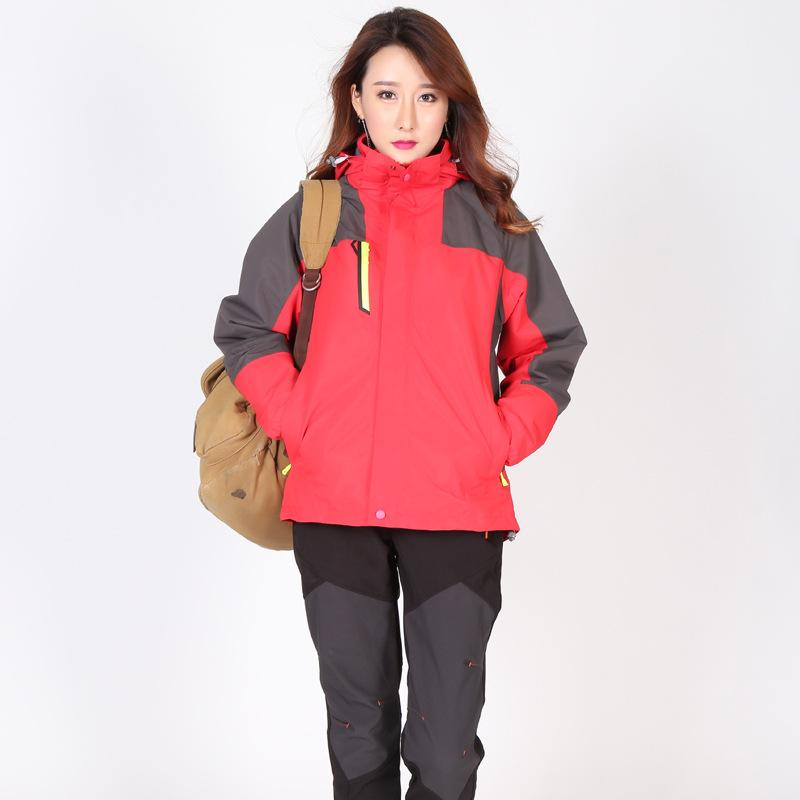 Autumn And Winter New Style Three-in-One Outdoor Raincoat Jacket Women's Non-Standard Waterproof Breathable Two-Piece Set