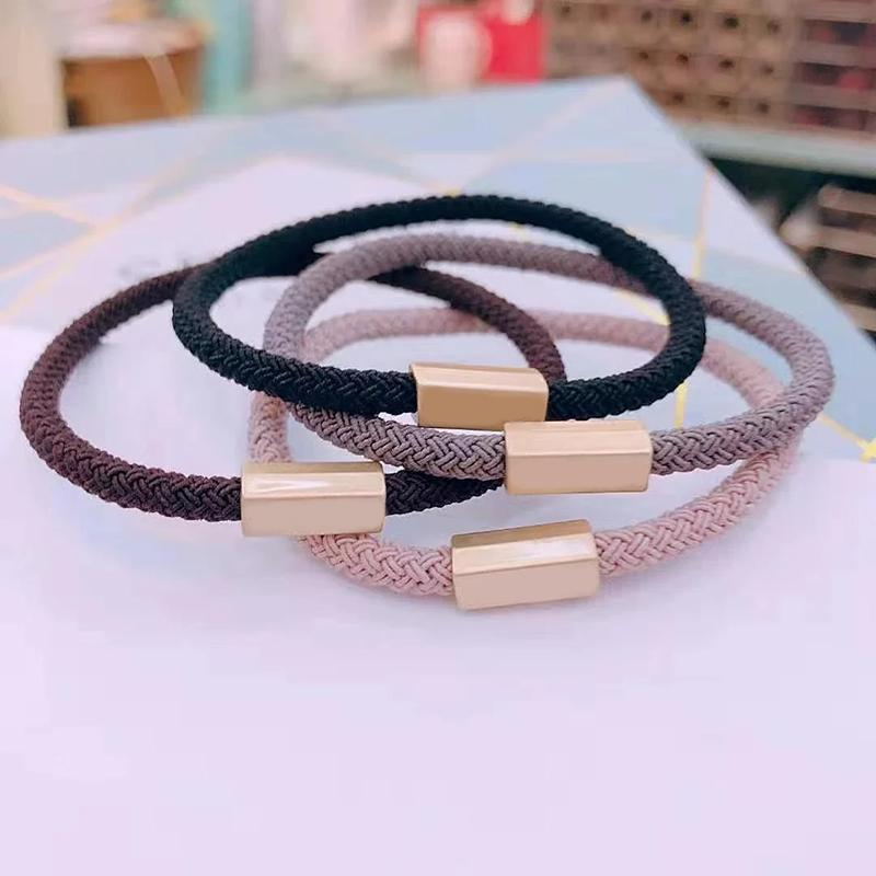New fashion 4 color letter rubber band C style head rope hair rope for Ladies collection luxurious items hair accessories headdress vip gift