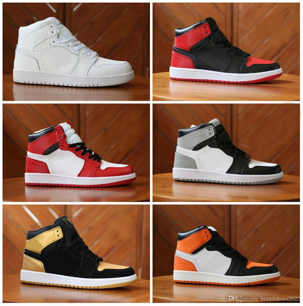 Yüksek OG Yasaklandı Bred Toe Örümcek-Adam UNC 1 s üst 3 Erkek Basketbol Ayakkabıları Ev Homage Chicago Kraliyet Erkekler Spor Tasarımcısı Sneakers