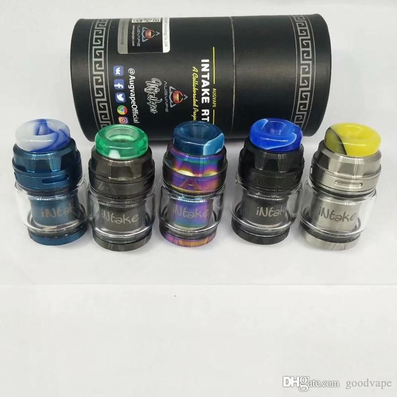 Goodvape est INTAKE RTA Clone Replaceable Tank Atomizers Resin Drip Tip Single Coil Bottom Airflow Dual Posts Build Deck