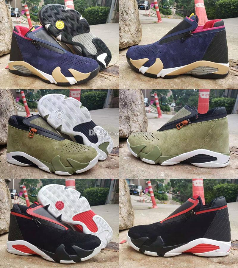 Scarpe da basket classiche Jumpman 14 XIV Kids Uomo Fusion Viola ultimo colpo Nero Fusion Varsity Red 14s XIV Sneakers