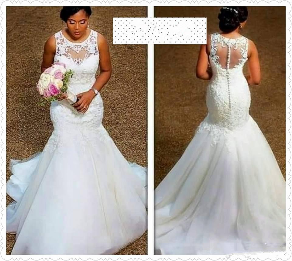 섹시한 인어 플러스 사이즈 국가 아프리카 빈티지 제국 허리 웨딩 드레스 Beads 2020 새로운 웨딩 신부 가운 Vestido de Novia