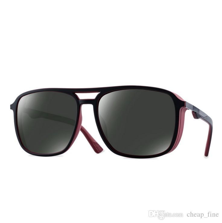 2019 Designer Herren Polarized Sonnenbrille klassische mehrfarbige Sonnenbrille Damen Unisex Vintage Outdoor Eyewear UV400 8114 Sonnenbrille