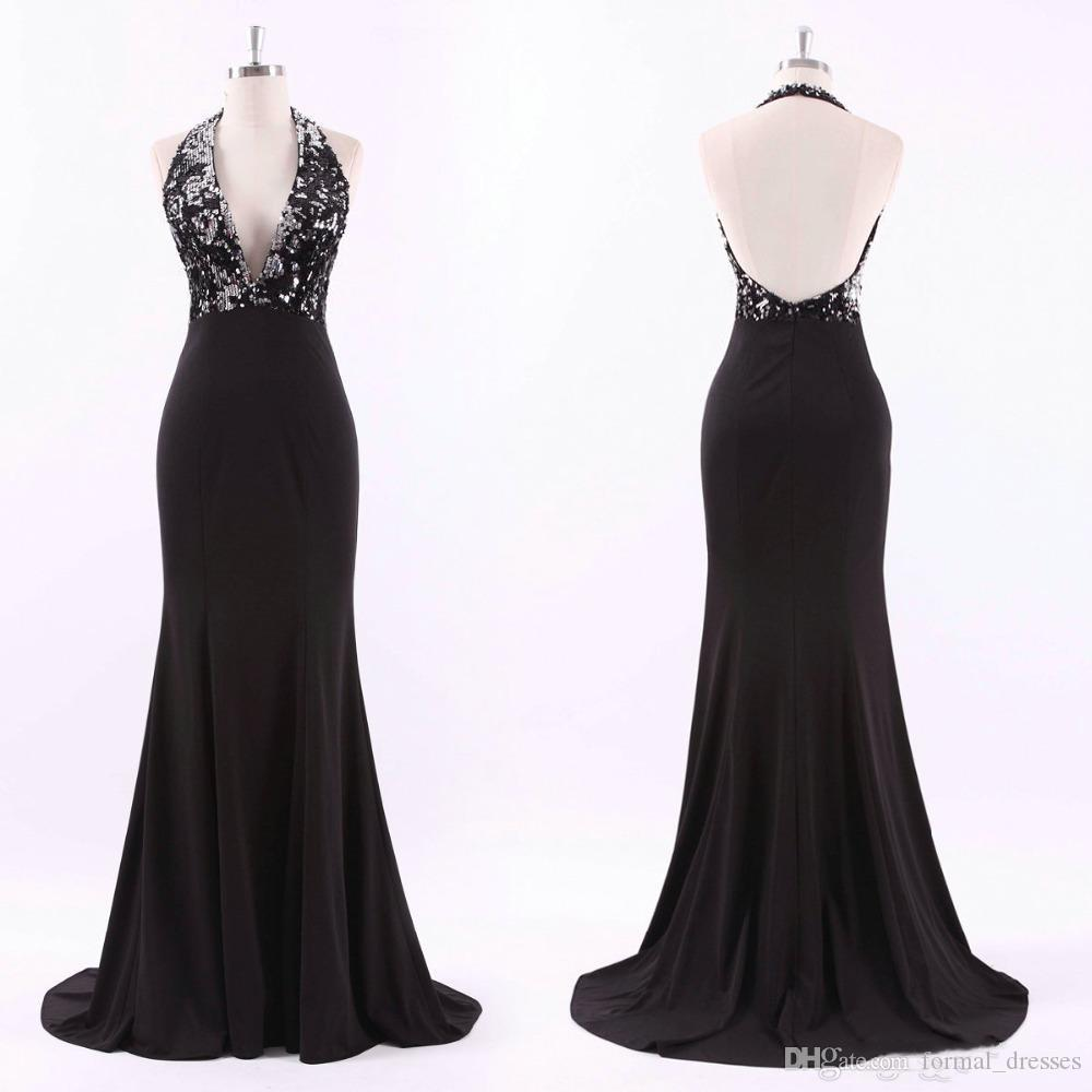 Ever Pretty Evening Dress Sexy Open Back Long Sequin Gowns V-Neck Fit Backless Mermaid Party Dresses robe de soiree