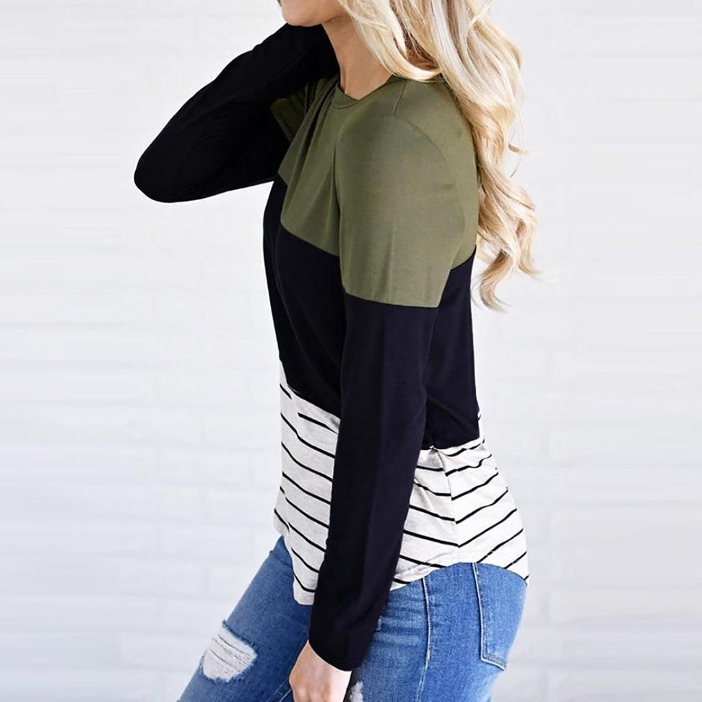 Women Maternity Blouse Long Sleeve Striped Nursing Tops T-shirt For Breastfeeding Ladies Fashion Casual Pregnancy Clothes C850#
