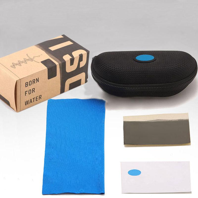 Retail Box and Accessories for Brand Sunglasses Case Hard Zipper Case Box Cleaning Cloth for Glasses Outdoor Sport Fashion Sunglasses