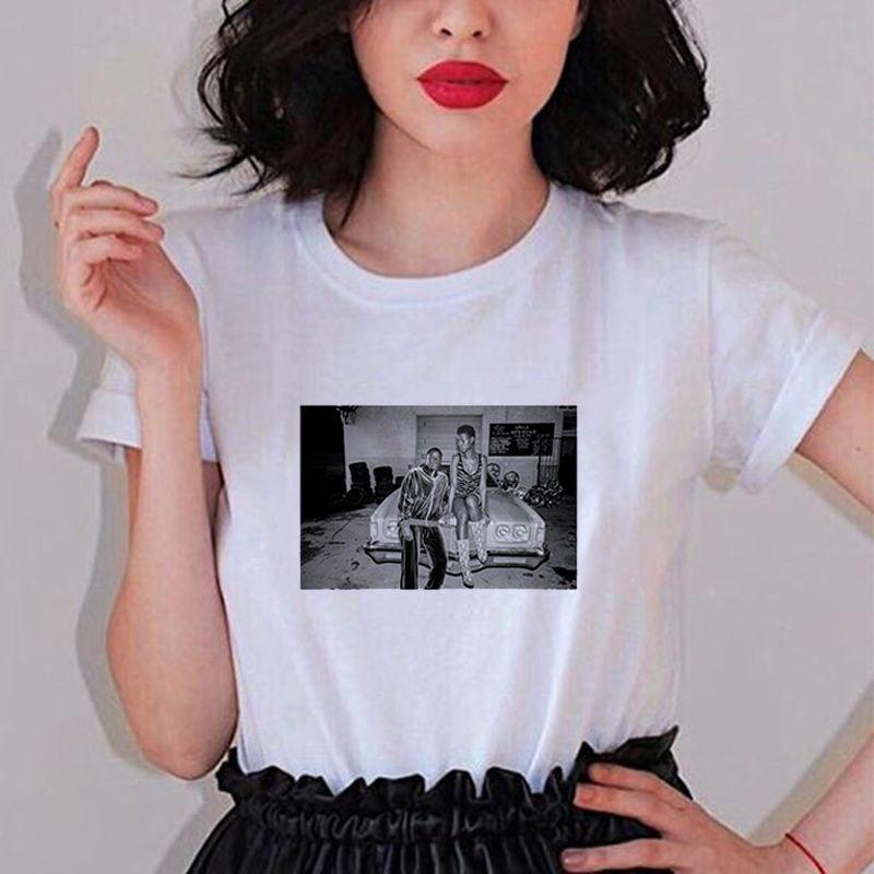 Nueva Ulzzang ocasionales flojas de la diversión de manga corta Mujer historieta de la impresión verano tops de las camisetas de Harajuku las mujeres de la camisa ropa camiseta de algodón bf