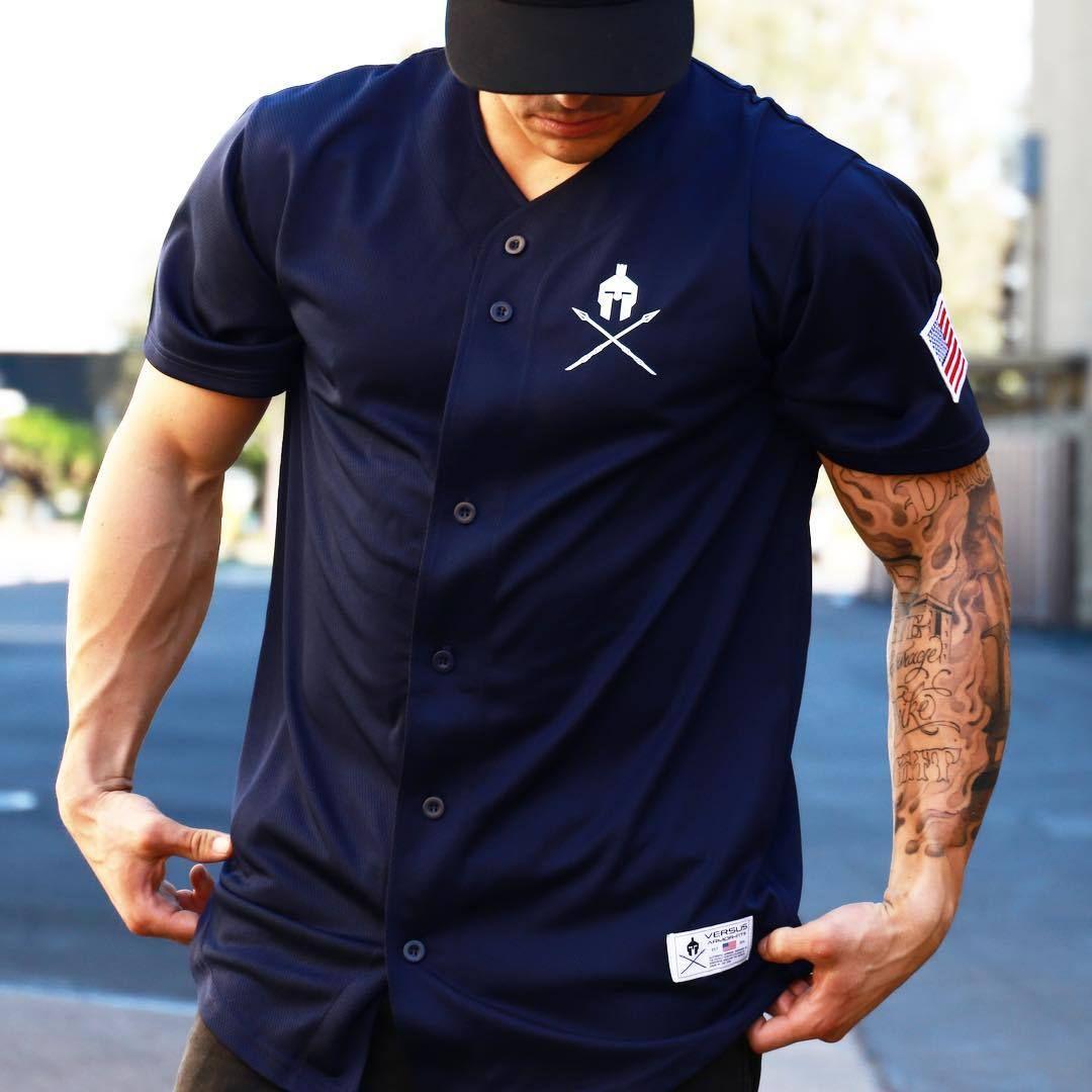 2019 Cardigan estivo Esplosione di moda GYM Street trend Abbigliamento sportivo da uomo e fitness T-shirt manica corta in estate JOG