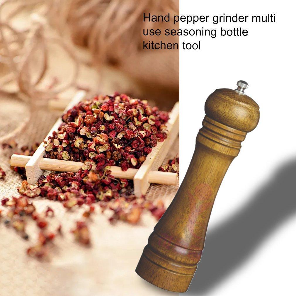 Cucina in rovere smerigliatrice pepe polvere macinapepe Manuale Pepper Grinder Multi-Purpose Cruet gadget da cucina