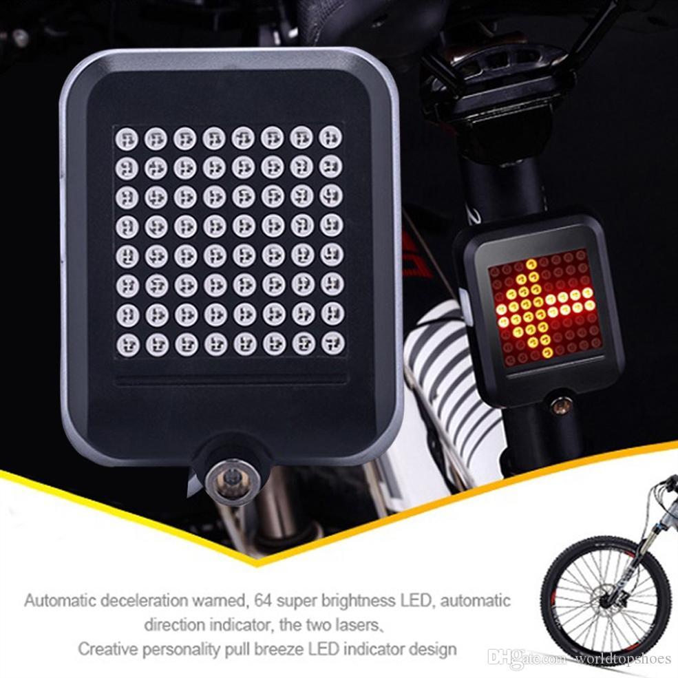 Signal Indicator Light Bike Bicycle LED Turn Tail Rear Wireless Remote Laser