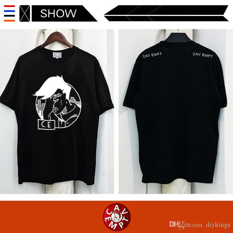 Moda C. E CAV EMPT Tişört Dijital Baskı Yaz Rahat Unisex Marka Spor Kısa Kollu T-shirt Saf Pamuk Yüksek Kalite