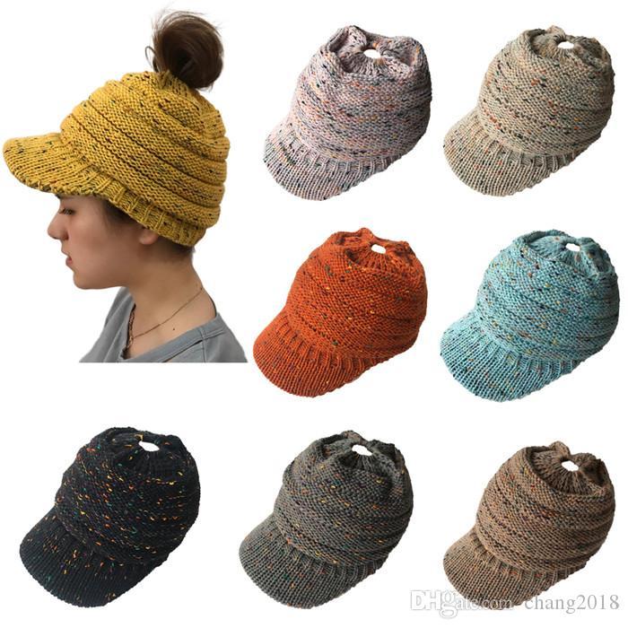 Winter Brand Female Ball Cap Pom Poms Winter Hat For Women Girl 'S Hat Knitted Beanies Cap Hat Thick Women'S Skullies Beanies fg038
