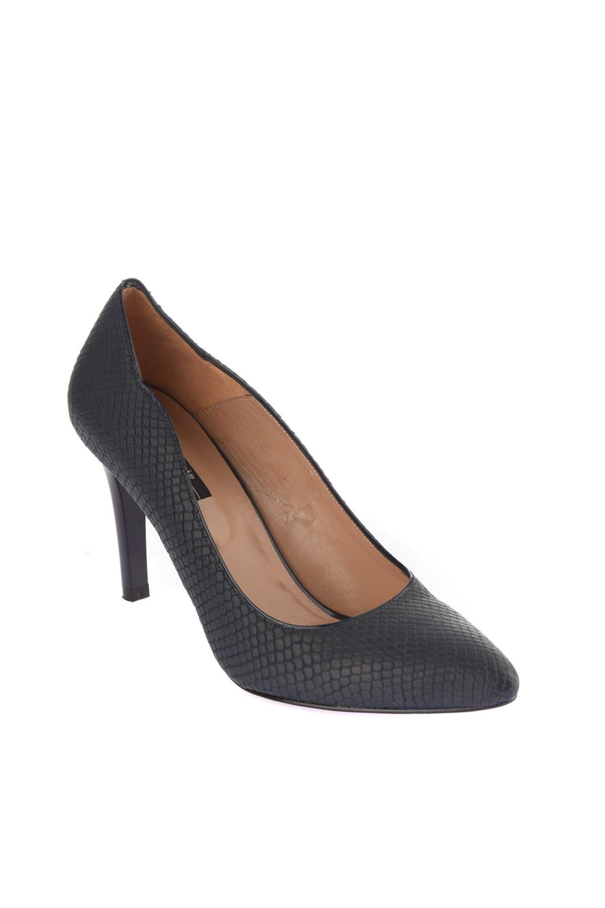 Pérola Couro Marinha Mulheres Blue 'S Shoes 120120570039