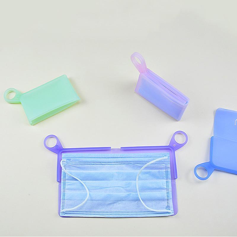 Yaratıcı Silikon Depolama Geçici Klasör Food Grade Silikon Saklama Taşınabilir Çanta BWB146 Maske Klip Maske