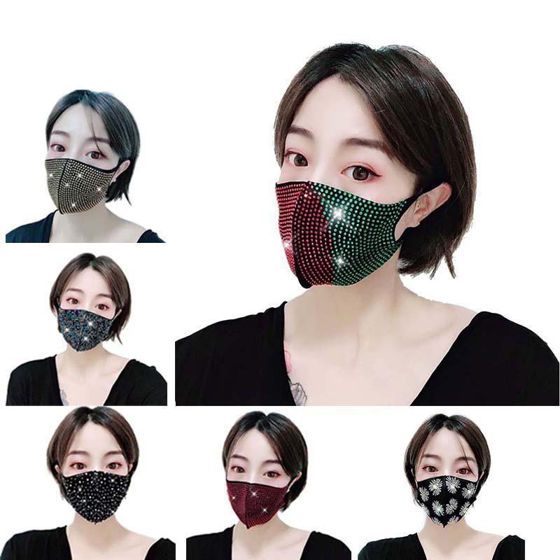 modacı gece kulübü parti kişilik maskesi maske Birleşik Devletleri flaş elmas taklidi yıldızın gelmesi 3-7 gün düz saç Nokta