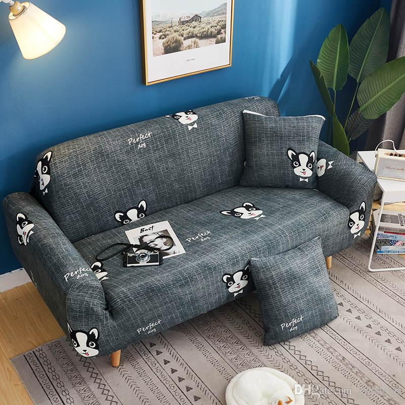 Ottoman Cover Sofa Stool Slipcover Protector Kitty Cute 90*90cm