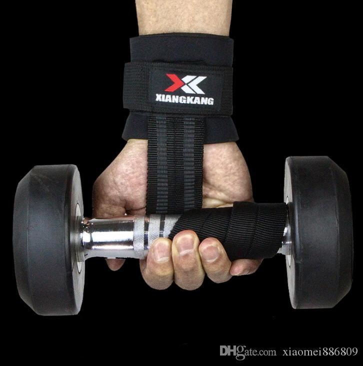Vente chaude 1Pc Gym Haltérophilie Musculation Gants de levage Poignée Barbell sangles Wraps support de poignet Protection des mains
