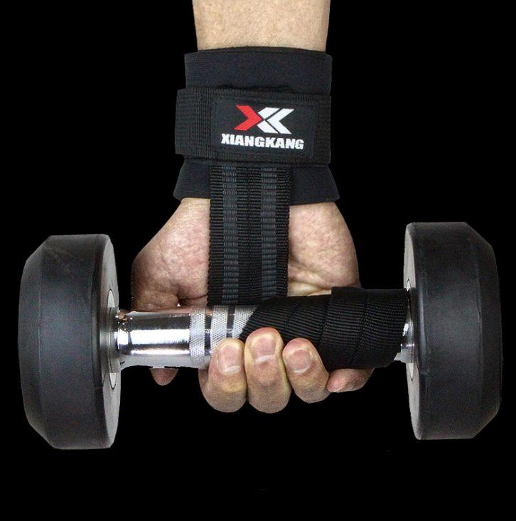 Горячие Продаем 1Pc Центр по тяжелой атлетике Обучение Вес Подъемное перчатки Бар Возьмитесь Штанга ремни Обертывания запястье поддержки Защита рук