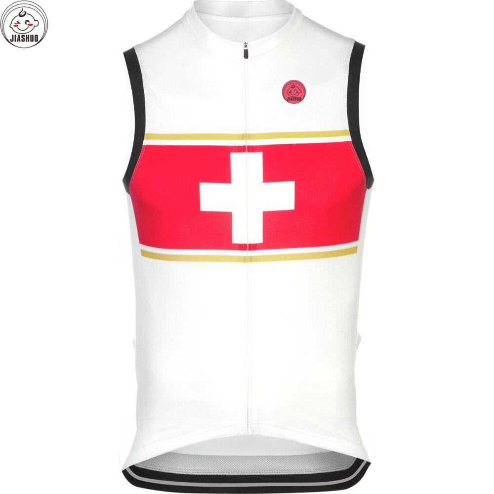 Nuevo 2017 NACIONAL SUIZA carrera de montaña Equipo / ROAD PRO Chaleco de ciclismo / Jersey JIASHUO personalizada BICICLETA Ropa CICLISMO MAILLOT