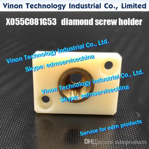 X055C081G53 FA10 diamante tornillo del soporte para la máquina de Mitsubishi DWC-FA, la base de roscado edm auxiliar asiento molde ojo DT39800, DT398A
