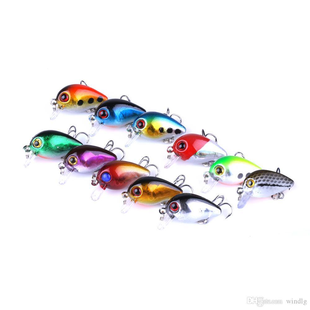 New Fishing Lures (CB023) 3CM 1.5g #10 Treble hook Swiming CRANKBAIT HOOKS 11pcs FREE SHIPPING