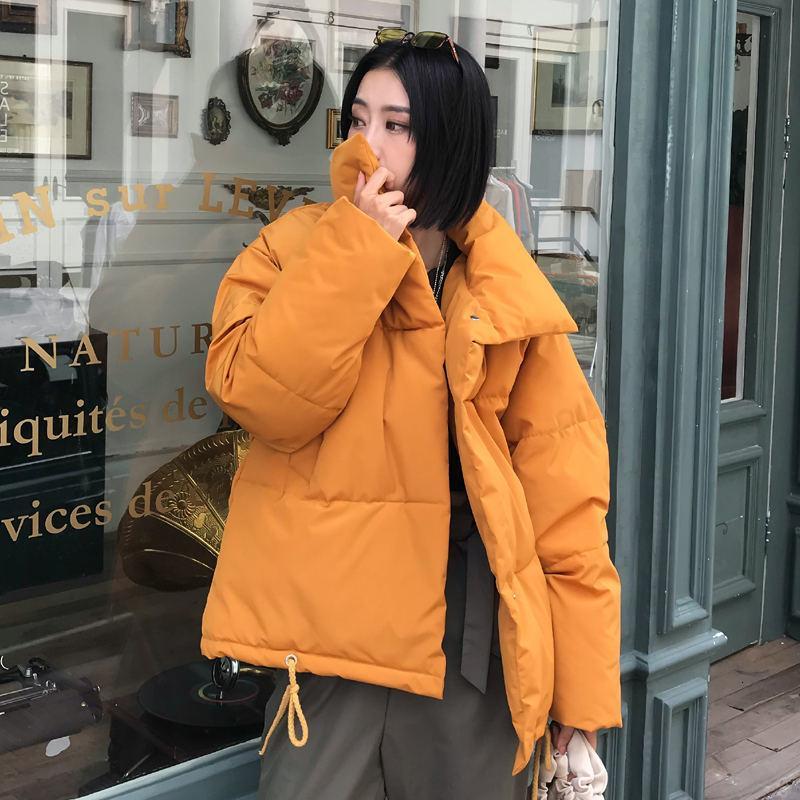 Herbst-Winter-Jacke Frauen-Mantel Mode Weibliche Stehen Winterjacke Damen Parka Warm beiläufig plus Größe Overcoat Parkas 2019