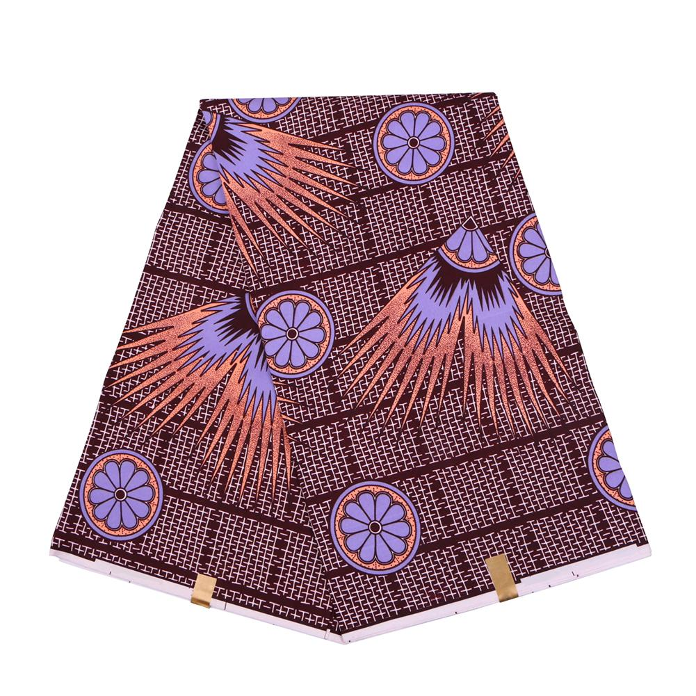 2020 Фиолетовой Анкара Полиэстер Wax Печать Ткань Бинт Real Воск высокого качество 6 ярдов 2019 Африканской Ткань для платья партии FP6130