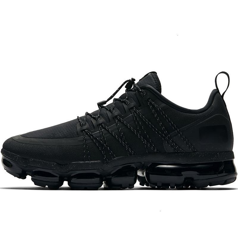 2019 Ejecutar Ejecutar Utilidad para los hombres formadores reflectante Medio diseñador de zapatillas de deporte para hombre zapatos para caminar al aire libre Deportes Negro Antracita blancos