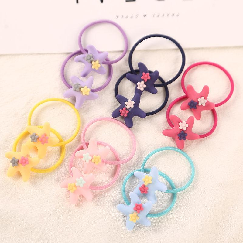 12pcs/lot Fashion 3cm Pink Child Hair Rubber Bands Accessories Wholesale Candy Colors Cute Elastics Hair Rope For Girls Kids