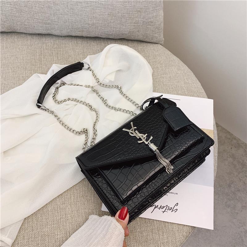 حقيبة المرأة فاخر مصمم حقائب جوكر المحمولة يميل الكتف واحد سلسلة الكتف حقيبة التمساح عبر - صغيرة الجسم