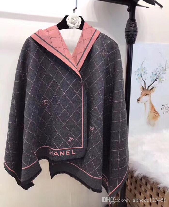 Yüksek kaliteli sonbahar yeni ünlü tasarımcı moda erkek ve kadın yün atkı yumuşak lüks marka bayan şal eşarp