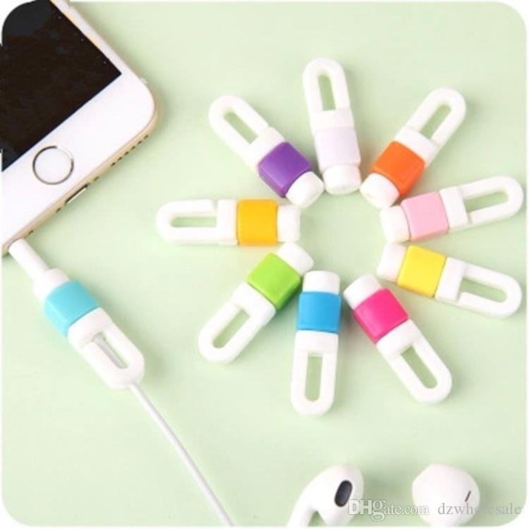 1000Pcs/lot Earphone Cable Protector Organizer Headphone Charger Data Line Cord Protection Sleeves Cable Winder For iPhone 5s 6s
