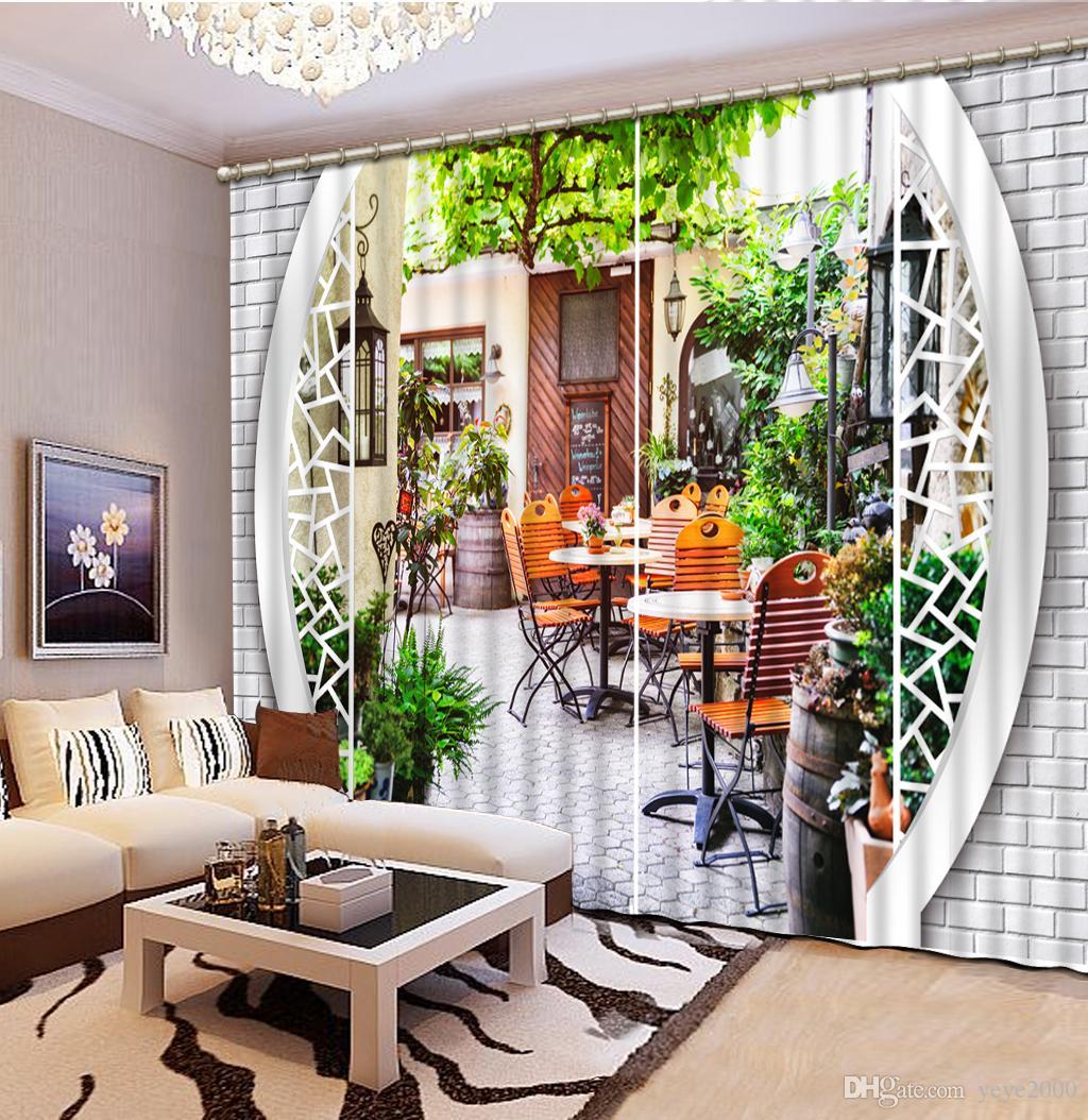 2019 Bedroom Luxury Blackout 3d Window Curtain For Living Room Drapes Cortinas Customized Sizeeuropean Garden Door Interior Luxury From Yeye2000