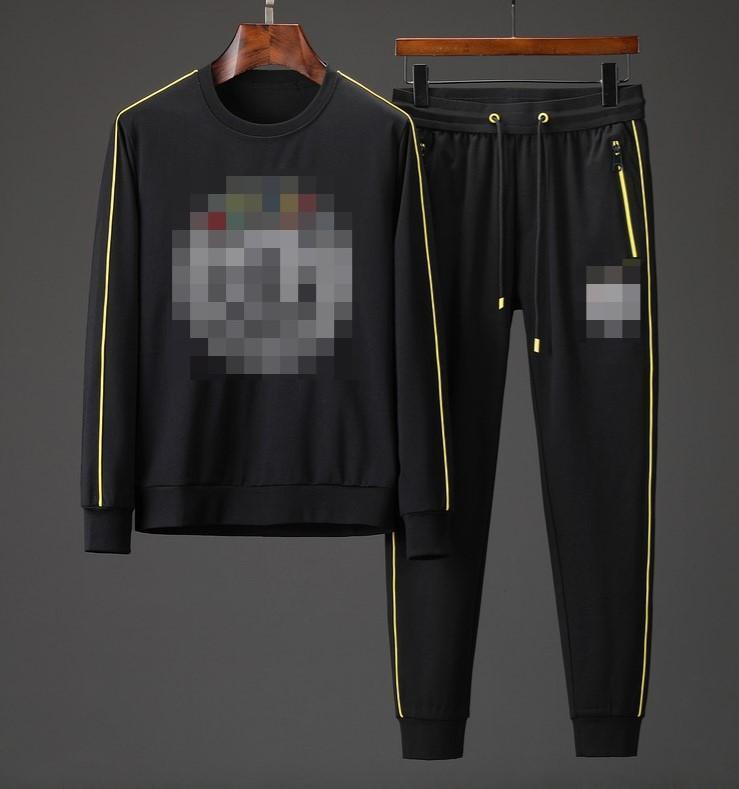 Sıcak Tasarımcı Erkek Eşofman Sportwear Lüks İlkbahar Sonbahar Uzun Kollu Casual koşucu Pantolon Homme Eşofman Sd B101667Q ile Casual Ceketler