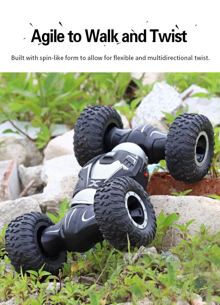 12pcs JJRC Q70 RC Car Radio Control 2.4GHz 4WD Twist- Desert Cars Off Road Buggy Toy High Speed Climbing RC Car Kids Children Toys by Hope12