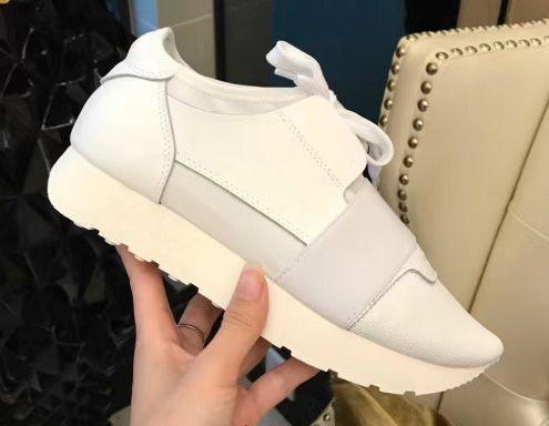 Sneaker Uomo Donna Casual Shoes Vera Pelle Mesh punta aguzza corridore corsa Scarpe da ginnastica di moda esterna scatola inclusa