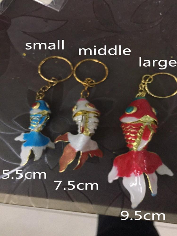 3 Размер Живые качели эмаль милые рыбы брелок для женщин мужчин детские подарки Клейкие Клайнги Cloisonne Goldfish Comlms
