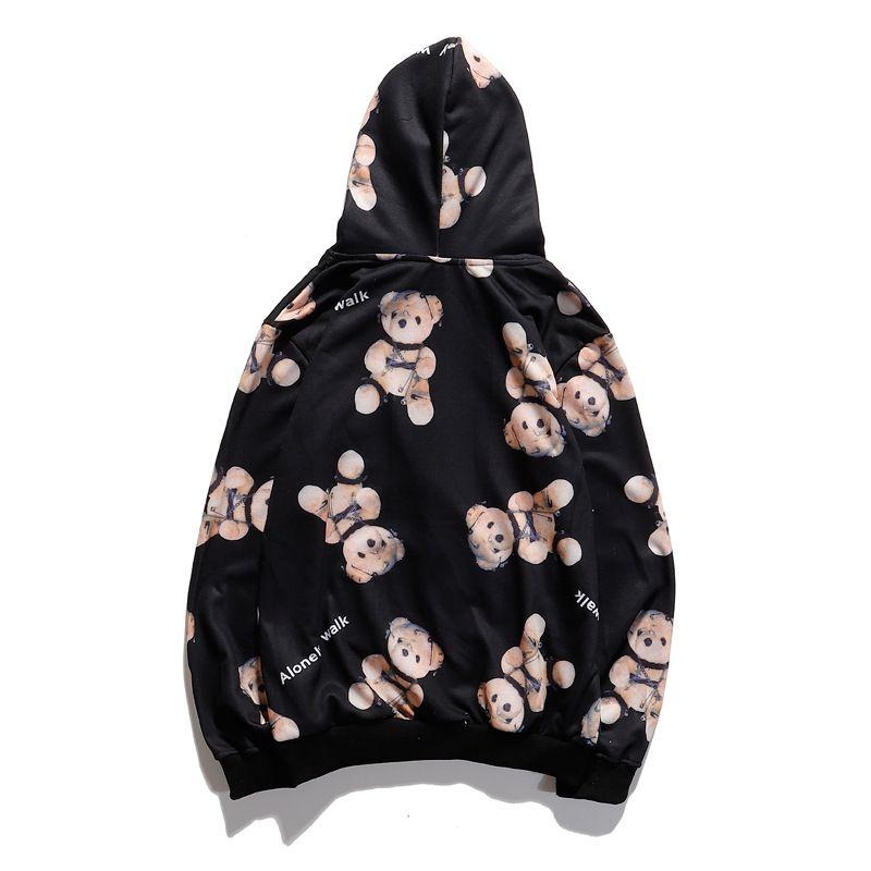 2020 Luxe Hoodie Sweat Hommes Femmes Masque Designer Hoodie Hip Hop hoodies de marque noire concepteur pull homme pull