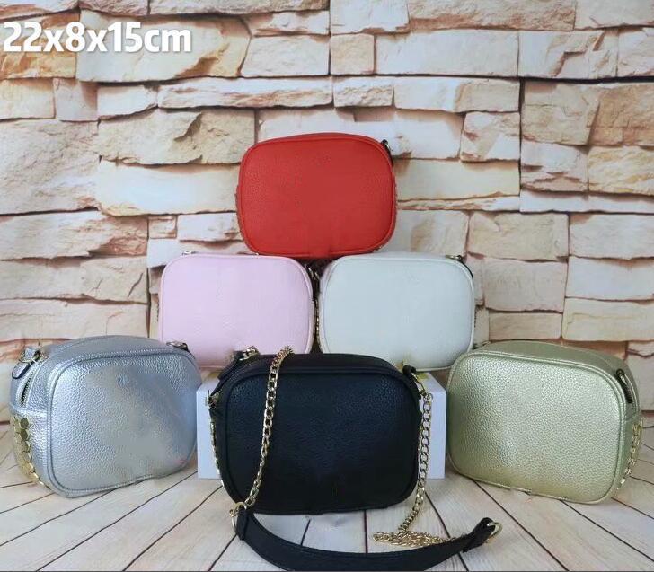 Las mujeres de lujo de la cadena Crossbady señora del diseñador pequeñas bolsas de hombro letra de la manera marca de alta calidad bolsas de dulces color de la bolsa