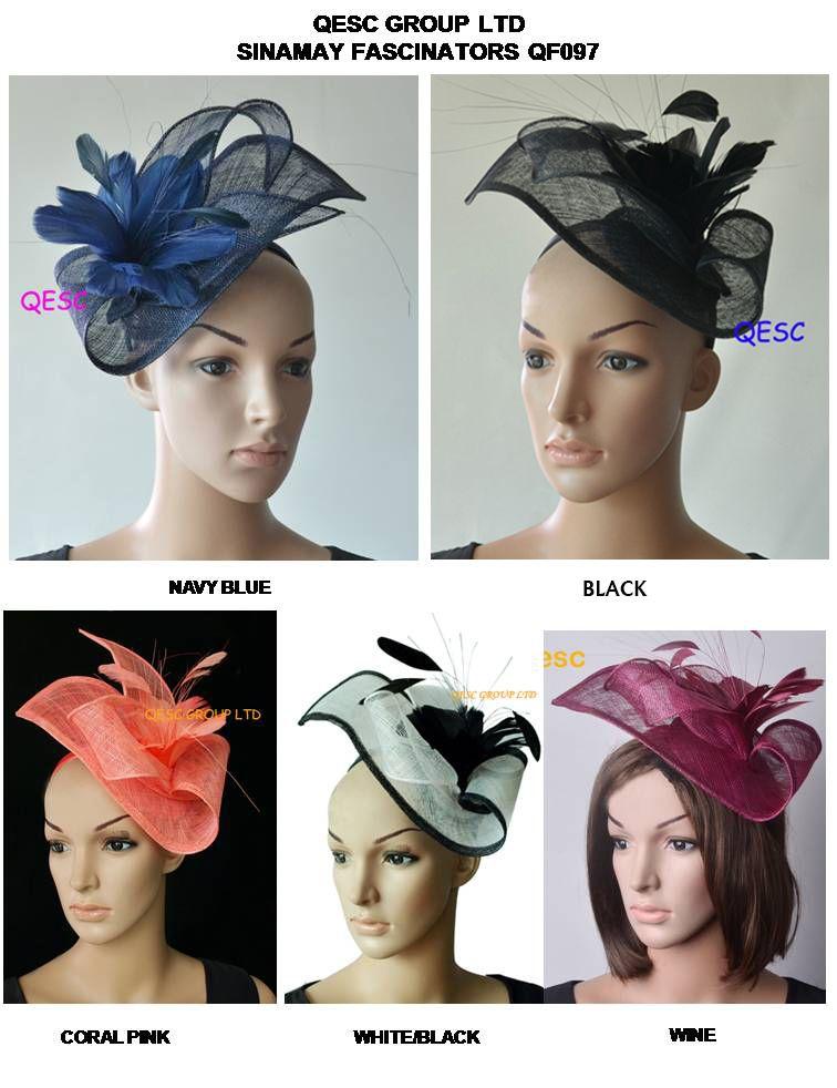 قبعة Fashinator New Colour.sinamay في شكل خاص مع زهرة ريشة لسباقات أسكوت، كأس ملبورن، كنتاكي ديربي وزفاف