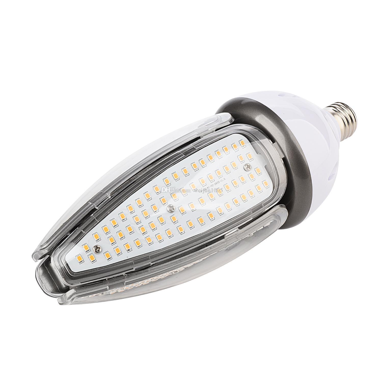 Светодиодная лампа кукурузы фара 50 Вт E27 E40 винтовых баз высотных сени свет 50W 120LM / W CFL HID замена AC100-277V
