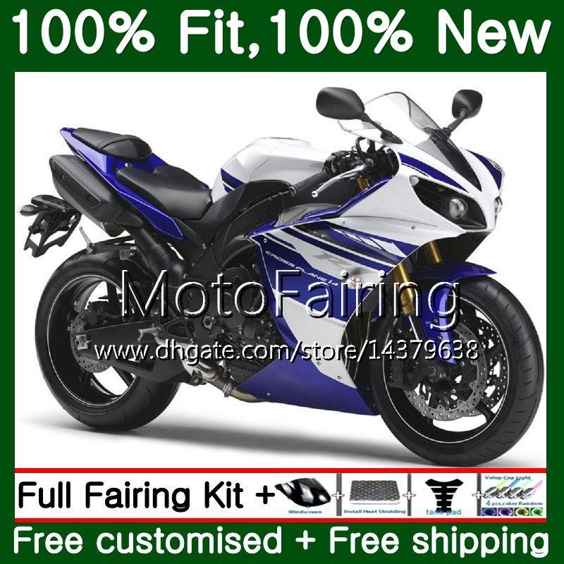 사출 성형품 YAMAHA YZF 1000 YZF R 1 YZFR1 13 14 100MF14 YZF-1000 YZF R1 13 YZF1000 YZF-R1 2013 2014 정형 차체 푸른 흰색