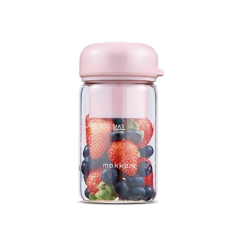 Jugo 300ML Mokkom Copa portátil al aire libre fabricante de jugo 1200mAh batería recargable mini mezclador de la fruta asidero mezclador