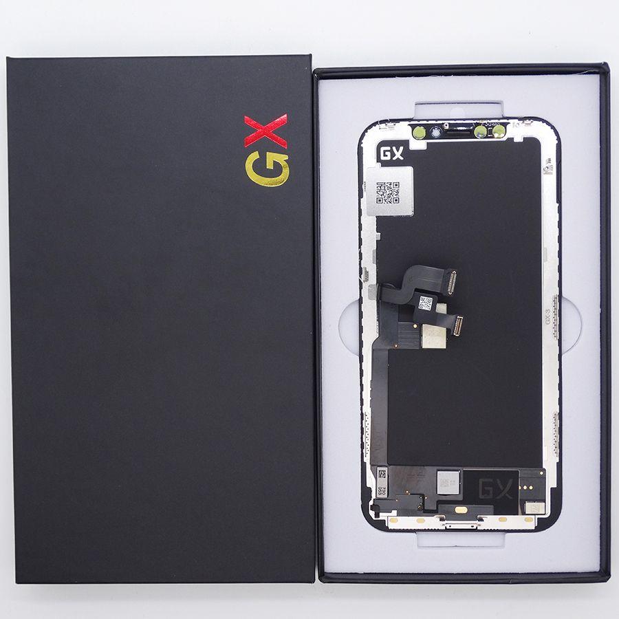 LCD Ekran iPhone X için GX Sert OLED Ekran Dokunmatik Ekran Digitizer Komple Montaj Değiştirme