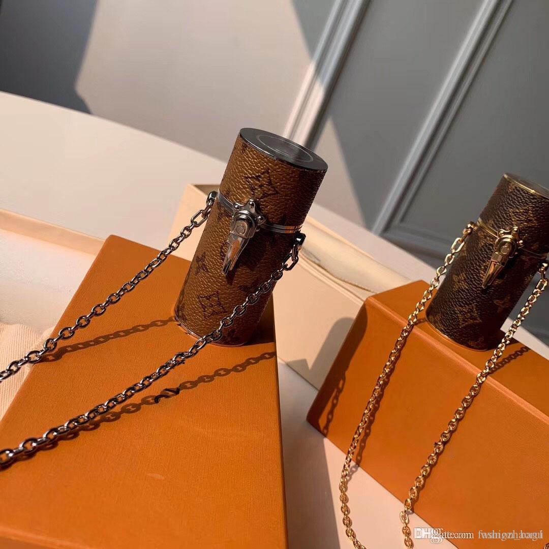 Ekleyebilecek en kaliteli moda kozmetik durumda monogrram Tuval zincir çanta Bayanlar haberci çantası Moda crossbody çanta ruj kılıfı MP2406