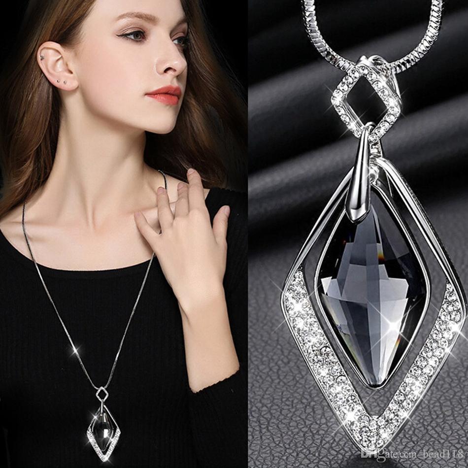 Long Necklaces /& Pendants for Women Collier Femme Geometric Statement Colar Maxi