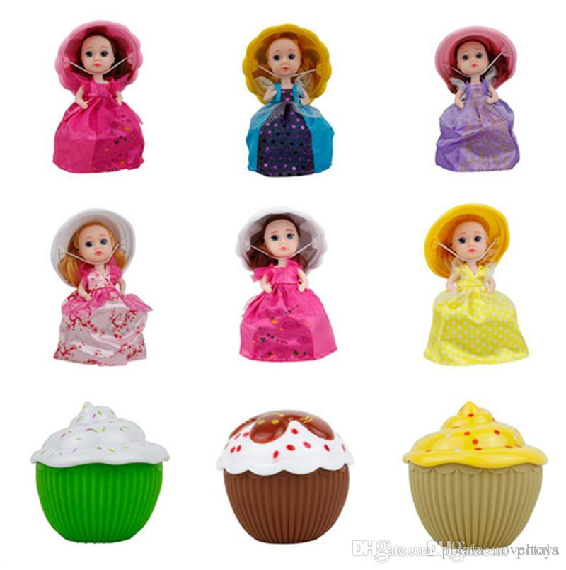 Mini surprise cupcake doll princess toy for girls magic cupcake doll cute scented toy pretend play gift Pretend Play Birthday Boxes packages