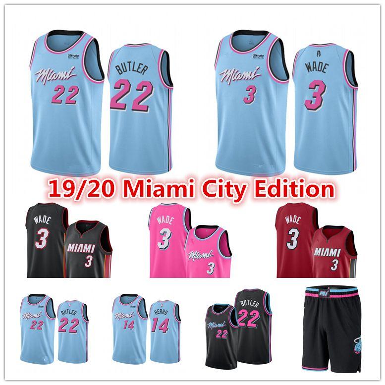 2020 Dwayne 3 Wade Miami 13 Heat 13 Jersey Mens Pink Jimmy 22 Butler 14 Tyler Herro Kendrick 25 Nunn City Blue Edition Basketball Jerseys From Oaka 20 32 Dhgate Com